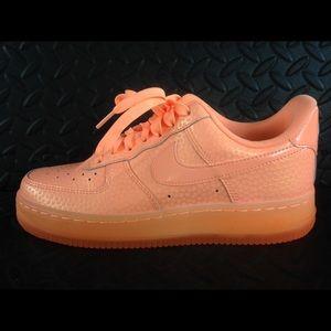 nike air force sunset glow peach